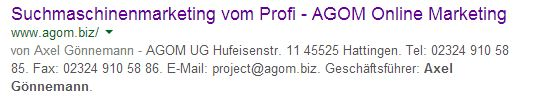 Autorenbildchen Google ist weg