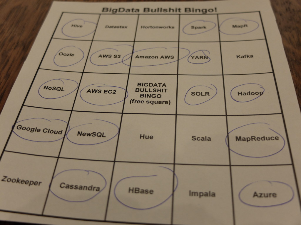 Big Data Vortrag Bullshit Bingo