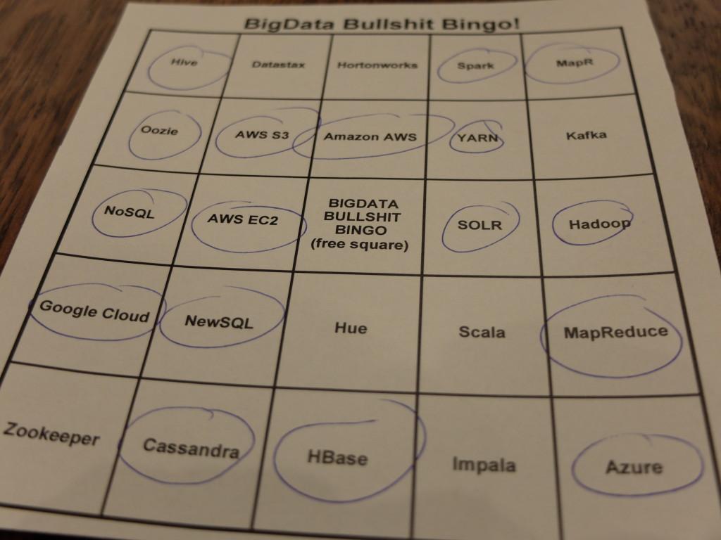 Big Data Vortrag Bullshit Bingo